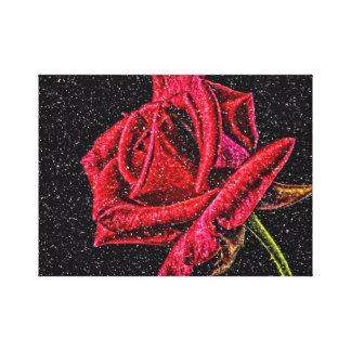 Toile de rose rouge