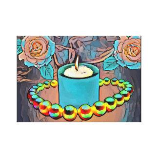 Toile De roses de perle de collier de bougies toujours