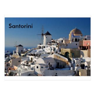 Toile de Santorini Carte Postale