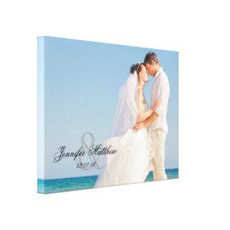 Toile de souvenir de photo de mariage d'esperluète toiles