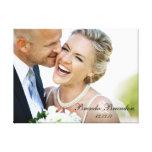 Toile de souvenir de photo de mariage toile tendue