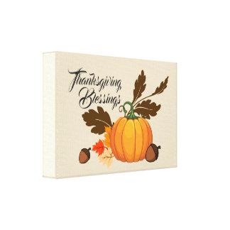 Toile De thanksgiving de bénédictions toujours la vie