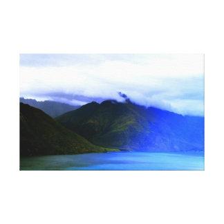 Toile Deco de paysage de montagnes de nature de la