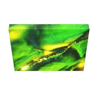 Toile Décoration abstraite verte d'impression d'effet de