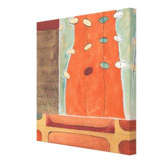 Toile Défilé abstrait des oeufs par Bruyère J Vess