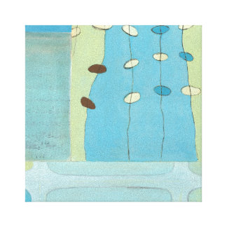 Toile Défilé bleu abstrait d'oeufs