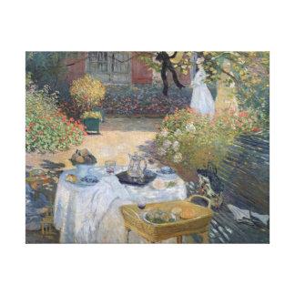 Toile Déjeuner de Claude Monet | : Le jardin Argenteuil