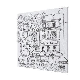 Toile del'Horloge d'hôtel de Café | de cour, Avignon