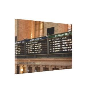 Toile Départs centraux grands NYC de train du Hudson