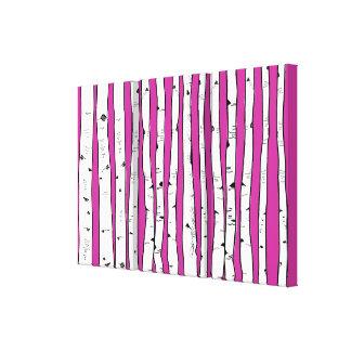 Toile Des arbres de bouleau vous choisissez la couleur