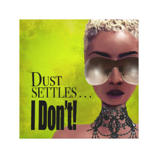 Toile Des bancs à dossier de la poussière je ne fais pas