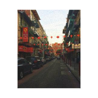 Toile des lanternes #2 de San Francisco Chinatown