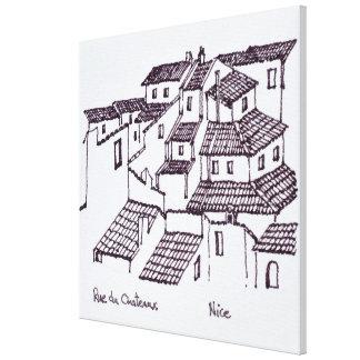 Toile Dessus de toit de Rue de Chateaux | Nice, France