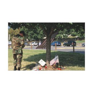 Toile Dévouement au notre tombé le 11 septembre.