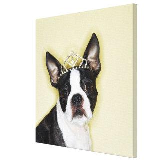 Toile Diadème de port de chien