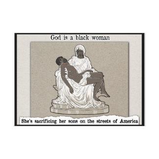Toile Dieu est une femme de couleur