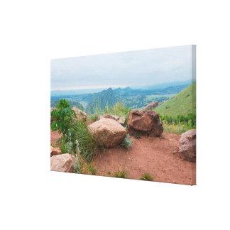 Toile Donnez sur au parc rouge de roches