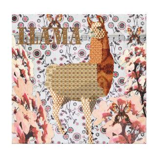 Toile d'or de lama de fleurs de cerisier toile tendue