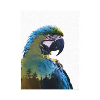 Toile Double exposition de perroquet