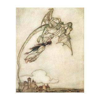 Toile Dragon et la princesse