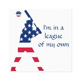 Toile Drapeau d'Américain de base-ball de l'Amérique