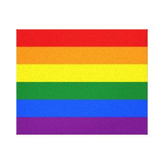 Toile Drapeau de gay pride d'arc-en-ciel