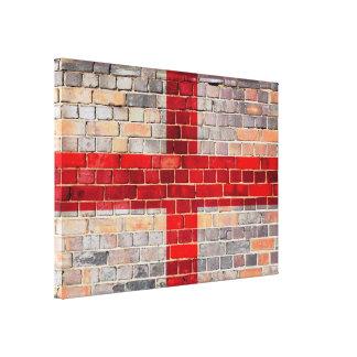 Toile Drapeau de l'Angleterre sur un mur de briques