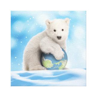 Toile du monde de CUB d'ours blanc