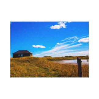 Toile du sud de paysage d'Alberta