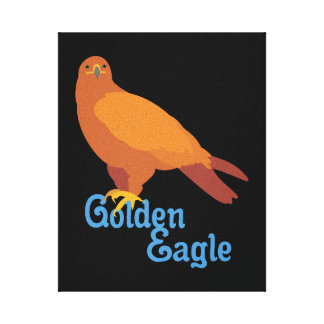Toile Eagle d'or majestueux