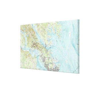 Toile Eau de marée la Virginie Map (1984)
