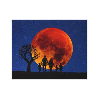Toile Éclipse lunaire de lune de sang