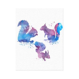 Toile Écureuils