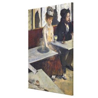 Toile Edgar Degas | dans un café, ou l'absinthe