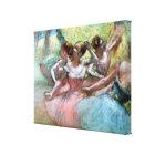 Toile Edgar Degas | quatre ballerines sur l'étape