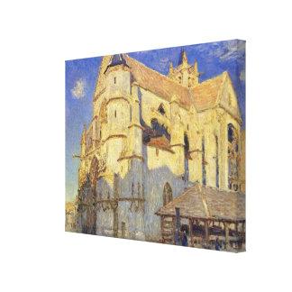 Toile Église d'Alfred Sisley | chez Moret, temps givré