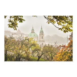 Toile Église de Prague Saint-Nicolas pendant le matin