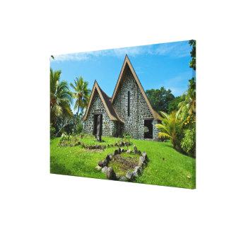 Toile Église en pierre en île de Kwato