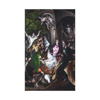 Toile El Greco l'adoration des bergers
