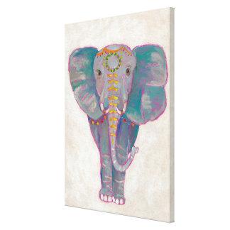 Toile Éléphant asiatique de zen