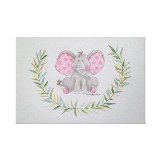 Toile éléphant de bébé