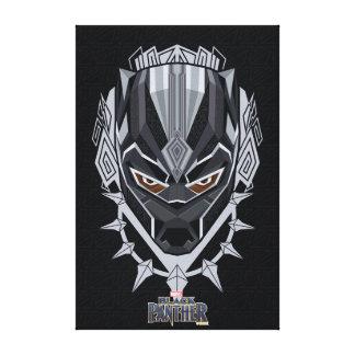 Toile Emblème de tête de panthère noire de la panthère
