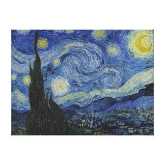 Toile enveloppée de nuit étoilée de Van Gogh Toiles