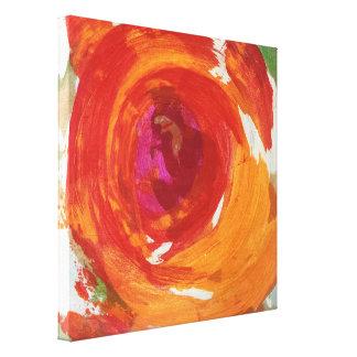 Toile enveloppée du mouvement giratoire 24 x 24 toiles