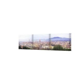 Toile enveloppée panoramique de Florence Toiles