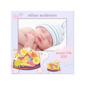 Toile enveloppée par cadeau de photo de bébé de toile tendue sur châssis