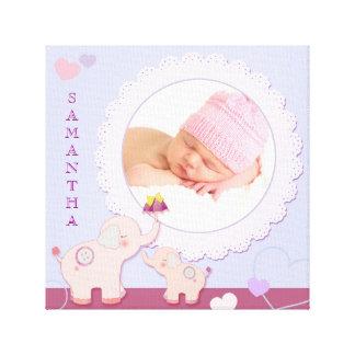 Toile enveloppée par cadeau de photo de bébé toile tendue