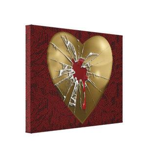 Toile enveloppée par coeur brisé impression sur toile