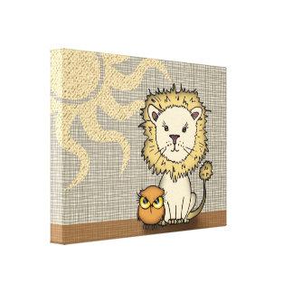 Toile enveloppée par copie d'art de crèche de lion toiles
