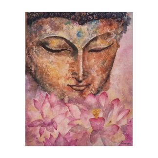 Toile enveloppée par copie rose d'aquarelle de